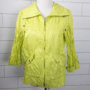 Chicos Zenergy Jacket Lime Green Size 1 Medium